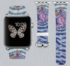 FIts all Apple Watch models. Band sizes available in 38 mm and 42 mm. Fitting wrist sizes between 150 to 210mm Match the watch band with case and be unique - https://www.etsy.com/shop/TrenderPrint Made of high quality calf leather Our watch-band`s are non-toxic, durable We use UV