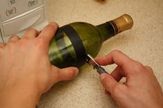 Green Hack Living : UPcycled Wine Bottle to Drinking Glass Tutorial