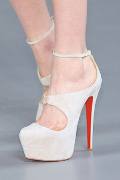 Crazy shoes....seen at Thierry Mugler Fall 2012...
