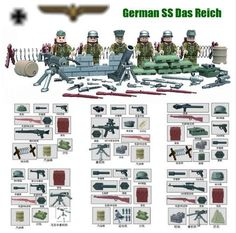LEGO custom WW2 German Wehrmacht army squard made real Fight Minifigure #Unbranded