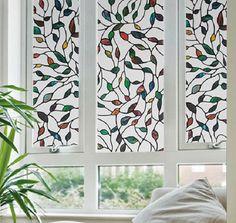 Window Films Cane Leaves 3 Meters PVC Films Glass Sticker Non-glue