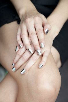 liquid finish silver metallic nails