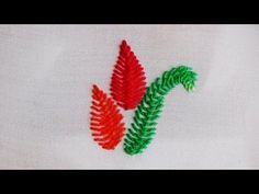 Cretan Stitch-Cretan Stitch Leaf - Hand Embroidery Tutorials By Nagu's Handwork - YouTube