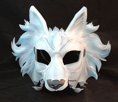 White Ice Blue and Grey Direwolf Game of Thrones by PlatyMorph