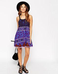 Image 4 ofASOS PETITE Gypsy Summer Dress with Pom Poms