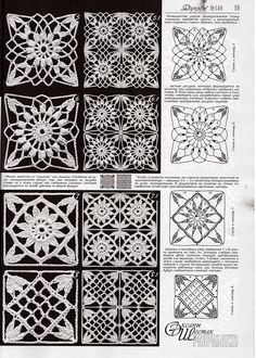 """crochet lace lacy granny square by lesa"", ""Use imgbox to upload, host and share all your images. Filet Crochet, Crochet Diagram, Crochet Chart, Thread Crochet, Love Crochet, Crochet Stitches, Crochet Motif Patterns, Crochet Blocks, Square Patterns"