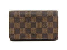 Authentic Louis Vuitton Damier ebene Porte-monnaie billets Tresor wallet N61730