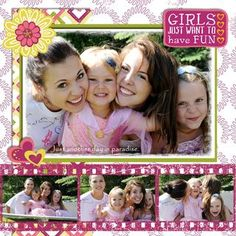 Be Young Girl Digital Additions Scrapbooking Layout from Creative Memories  http://www.creativememories.com
