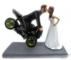 Dirt Bike Kissing Couple Topper - BobbleGr.am