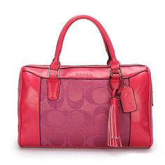 I LOVE this Coach Legacy Haley Medium Fuchsia Satchels AVV and I'm not even a huge Coach type of girl