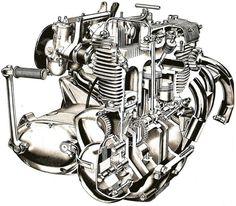 1968 Triumph Trident T150 Engine