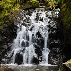 Waterfall in Pucks Glen, Argyll  Scotland