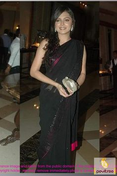 #Black and #Pink Bollywood #Party Wear #Sarees