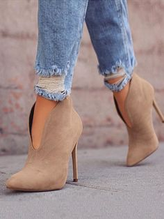 Pointed Toe Stiletto Ankle Boots - Boutiquefeel