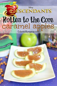Rotten to the Core Caramel Apples inspired by #Disney Descendants