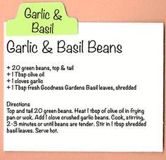 Garlic & Basil Beans