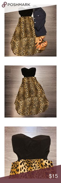 Leopard print high low dress - leopard print high low dress with cut outs on the sides  - new, never worn  - Product color may slightly vary due to photographic lighting sources or your monitor settings  - Do accept offers  - No returns Dresses High Low