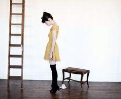 The Catherine Dress - MUSTARD