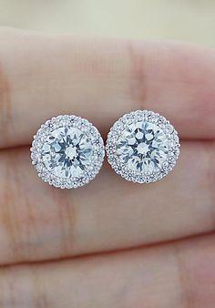 Halo Style Luxury Cubic Zirconia Ear Stud from EarringsNation
