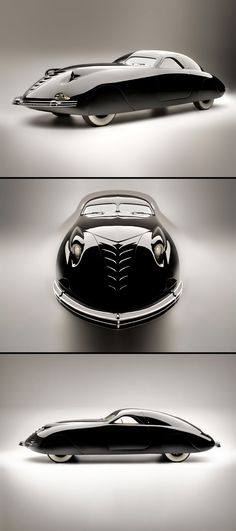 PHANTOM CORSAIR, 1938 // Vintage & Classic Car Design This design is just perfect to make the first flying, levitating or  amphibious car, flawless ....  its so perfect it makes the wheel technology feel outdated !
