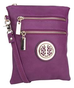 Another great find on #zulily! MKF Collection Purple Rectangle Crossbody Bag by MKF Collection #zulilyfinds