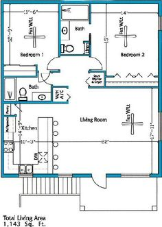 Simple 2 Bedroom House Plans   Google Search