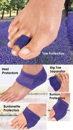 Lavender-scented gel pads help treat sore, achy feet. Solutions.com #PainRelief #Feet