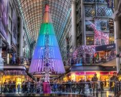 Christmas tree at Eaton Center , Toronto , Canada Toronto Canada, Times Square, Fair Grounds, Christmas Tree, Teal Christmas Tree, Xmas Trees, Christmas Trees, Xmas Tree