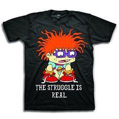 Rugrats: Chuckie Struggle Tee - Mens | NickShop