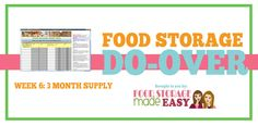 Food Storage Do-Over