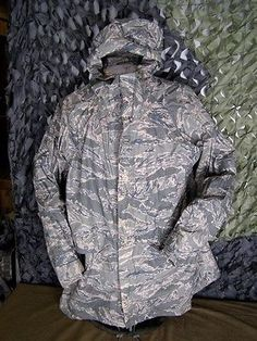 GENUINE US AIR FORCE ISSUE ABU TIGER STRIPE CAMO IMPROVED RAIN PARKA Med NEW