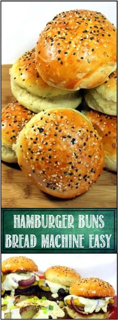 Inspired By eRecipeCards: Grilling Time - Hamburger Buns mixed in a Bread Machine! Bread Machine Hamburger Bun Recipe, Gluten Free Hamburger Buns, Homemade Hamburger Buns, Homemade Buns, Homemade Hamburgers, Bread Machine Brioche Recipe, Hamburger Recipes, Homemade Food, Grilling Recipes