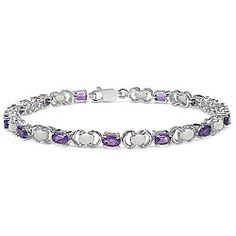 @Overstock - Adorn your wrist in shining beauty with a gorgeous bracelet Jewelry features bright genuine amethysts and opalsStunningly designed bracelet is crafted of .925 sterling silverhttp://www.overstock.com/Jewelry-Watches/Sterling-Silver-Genuine-Amethyst-and-Opal-Bracelet/4565210/product.html?CID=214117 $62.99
