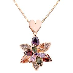 Hot sell party crystal flower gold mesh necklace Bamoer Luxury wedding necklace Super deal New Arrival Fashion Jewelry necklace Cute Jewelry, Jewelry Accessories, Jewelery, Jewelry Necklaces, Gadget Gifts, Rose Gold Jewelry, Crystal Flower, Gold Plated Necklace, Flower Pendant
