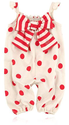 Rykiel Enfant ivory with red polka dots jersey outfit baby spring-summer 2013 collection
