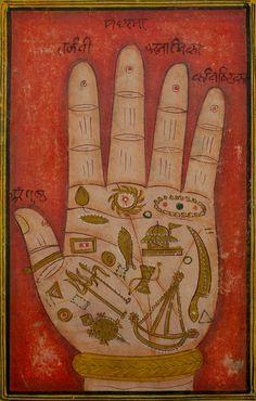 magictransistor: Tantric illustraion, Book of Devi Bhagavata Purana (देवी भागवतपुराण), Opaque watercolour with gold on wasli (related to pa...