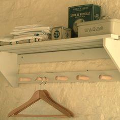 Wooden Wall Mounted Peg Shelf
