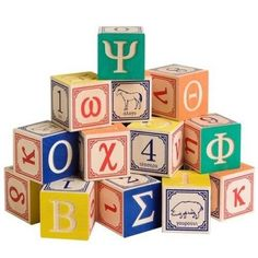 Uncle Goose Greek Alphabet Blocks  cool