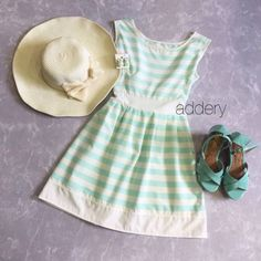Shopo.in : Buy Teal Stripes Sundress online at best price in Mumbai, India