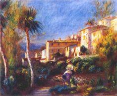 Villa de la poste at cagnes - Pierre-Auguste Renoir