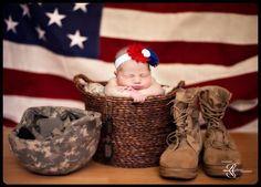 Military, Military baby, Military baby girl, America, Newborn Military photo, Baby Military photo, Taken by A Moments Reflection Photography, amr-photo.com