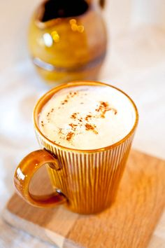 Pumpkin Spice Latte.  Vegan, easy, and best of all, you'll save money by making them at home.