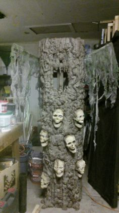 The haunted tree with a second coat of paint and the creepy cloth by dionicia