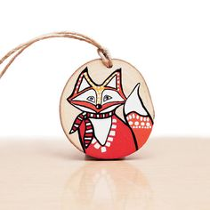 #whatthefoxsays  Holiday Ornament Fox Ornament Christmas Tree by hjmArtGallery, $30.00