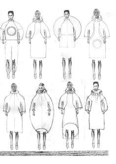 Fashion Sketchbook - Infinite Chaos collection development; fashion design sketches; fashion portfolio // Shawn Yang