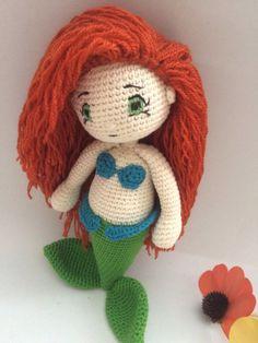 Crochet Pattern Ariel Mermaid Amigurumi Pdf - iremdesign. This is a Crochet Pattern Ariel Mermaid