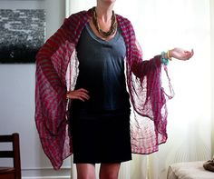 Tutorial: Make a lightweight floaty wrap from a scarf