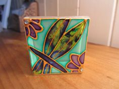 Hand Painted Glass Candle Holder by ASplashofColour1 on Etsy, £6.50