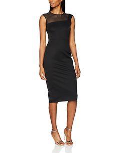 L.K. Bennett Damen Partykleid Sophia, Schwarz (Black), 44 (Herstellergröße: 16) #fashion