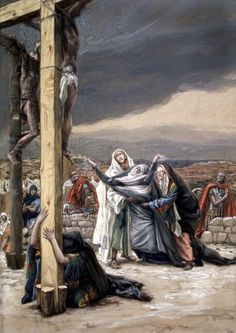 James Tissot, Life of Christ. The Sorrowful Mother (Mater Dolorosa) Catholic Mass Readings, Catholic Art, Religious Art, Catholic Religion, Life Of Christ, The Cross Of Christ, Bible Pictures, Jesus Pictures, Image Jesus